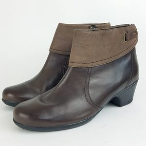 Clarks Foldover Ankle Boots